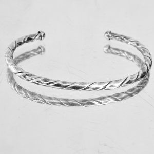 Jewelry - Solid Sterling Silver Twisted Cuff Bracelet 925